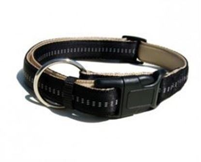 Billede af Soft nylon collar 2x35-55 cm. beige/sort