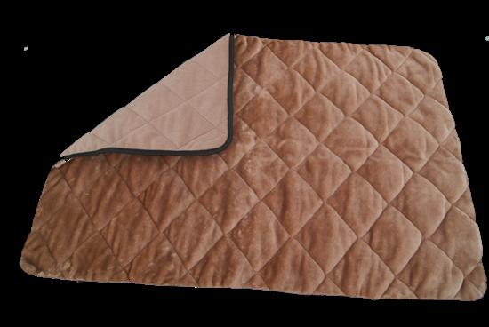 Billede af Quiltet hundetæppe brunt 50x70x1,5