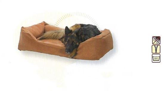 Billede af Hundesofa i ruskind Cognacfarvet