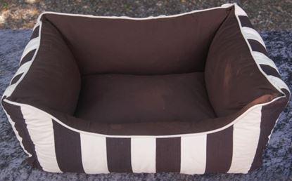 Billede af Hundesofa stribet stof 60x44x23 cm