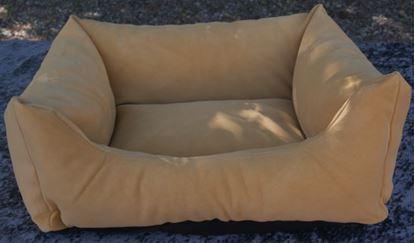 Billede af Hundesofa grøn ruskind 60x44x23 cm.
